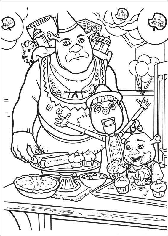 shrek babies coloring pages - photo#15