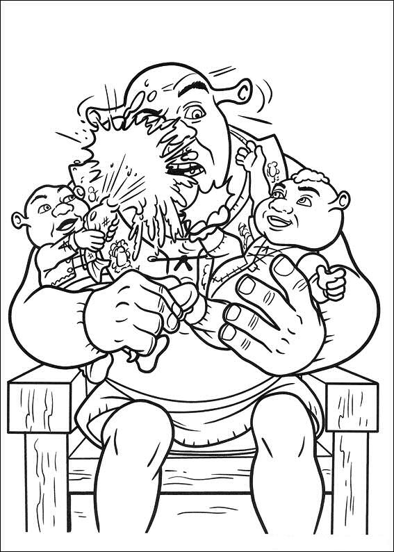 shrek babies coloring pages - photo#6