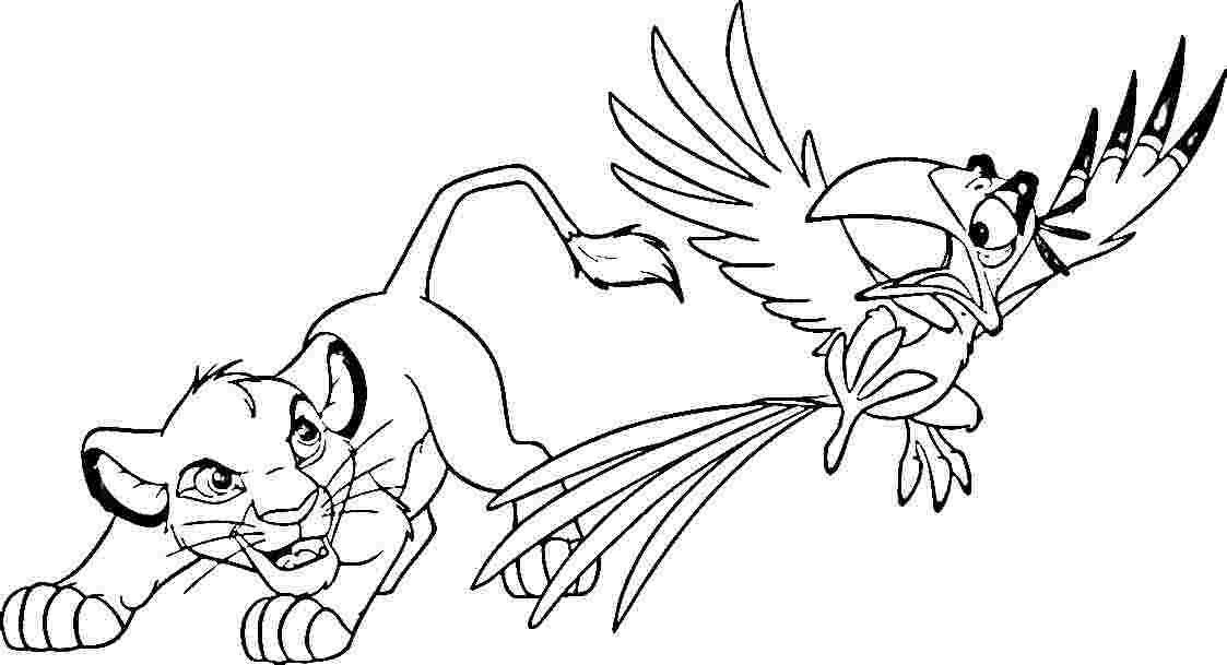Simba Coloring Pages for Free