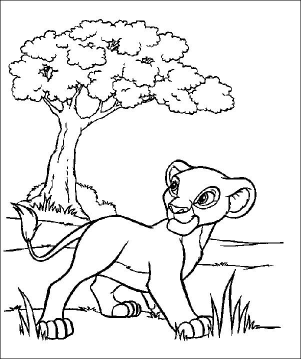 Simba Coloring Pages Free Print