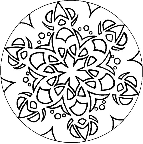Simple Geometric Pattern Coloring Sheets