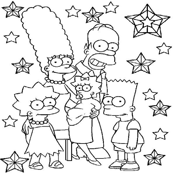 Printable Simpsons Coloring Pages
