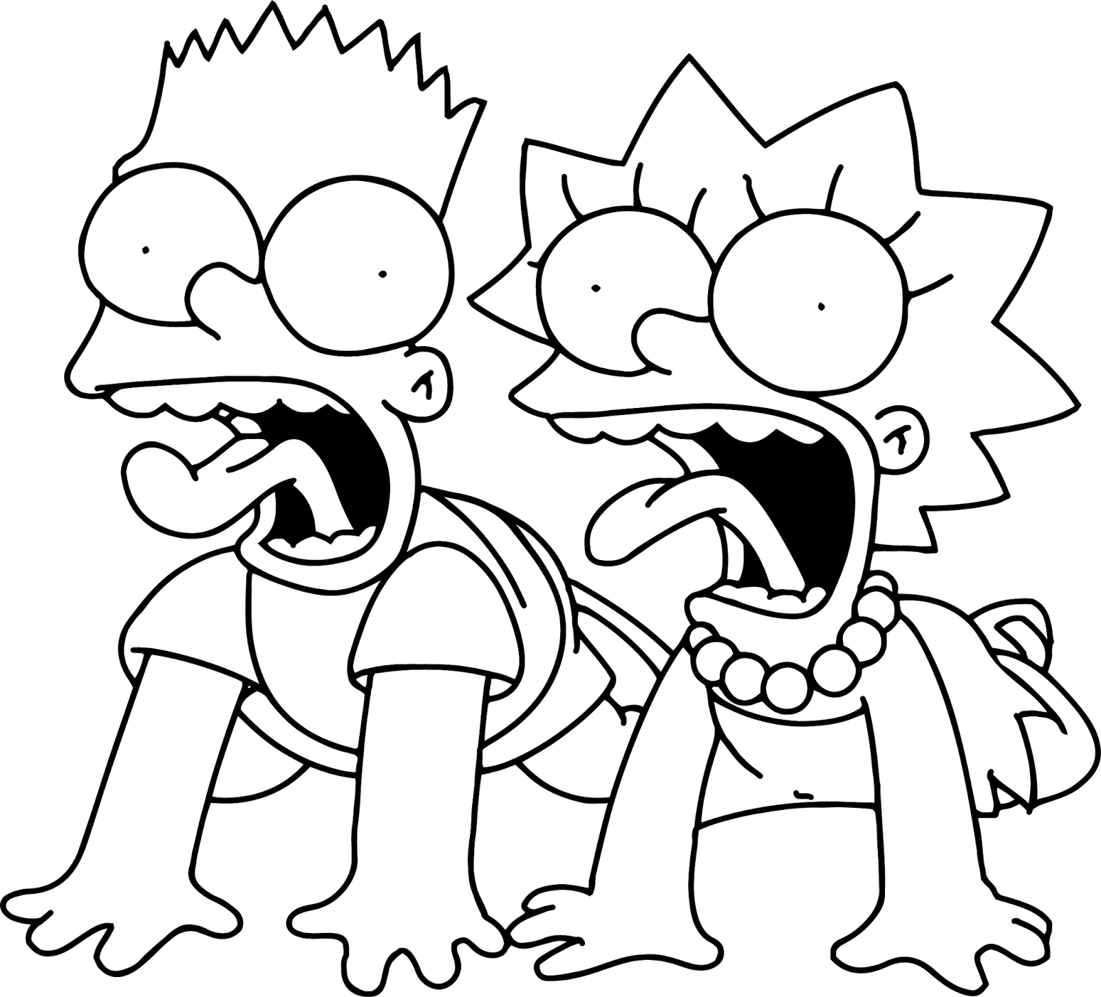 Free Simpsons Coloring Pages for Kids