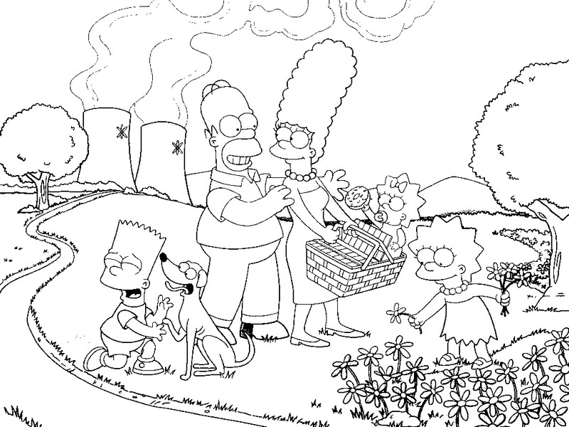 Simpsons Coloring Pages to Print