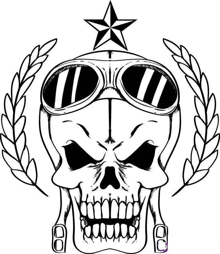 Printable Skull Coloring Pages for Adults