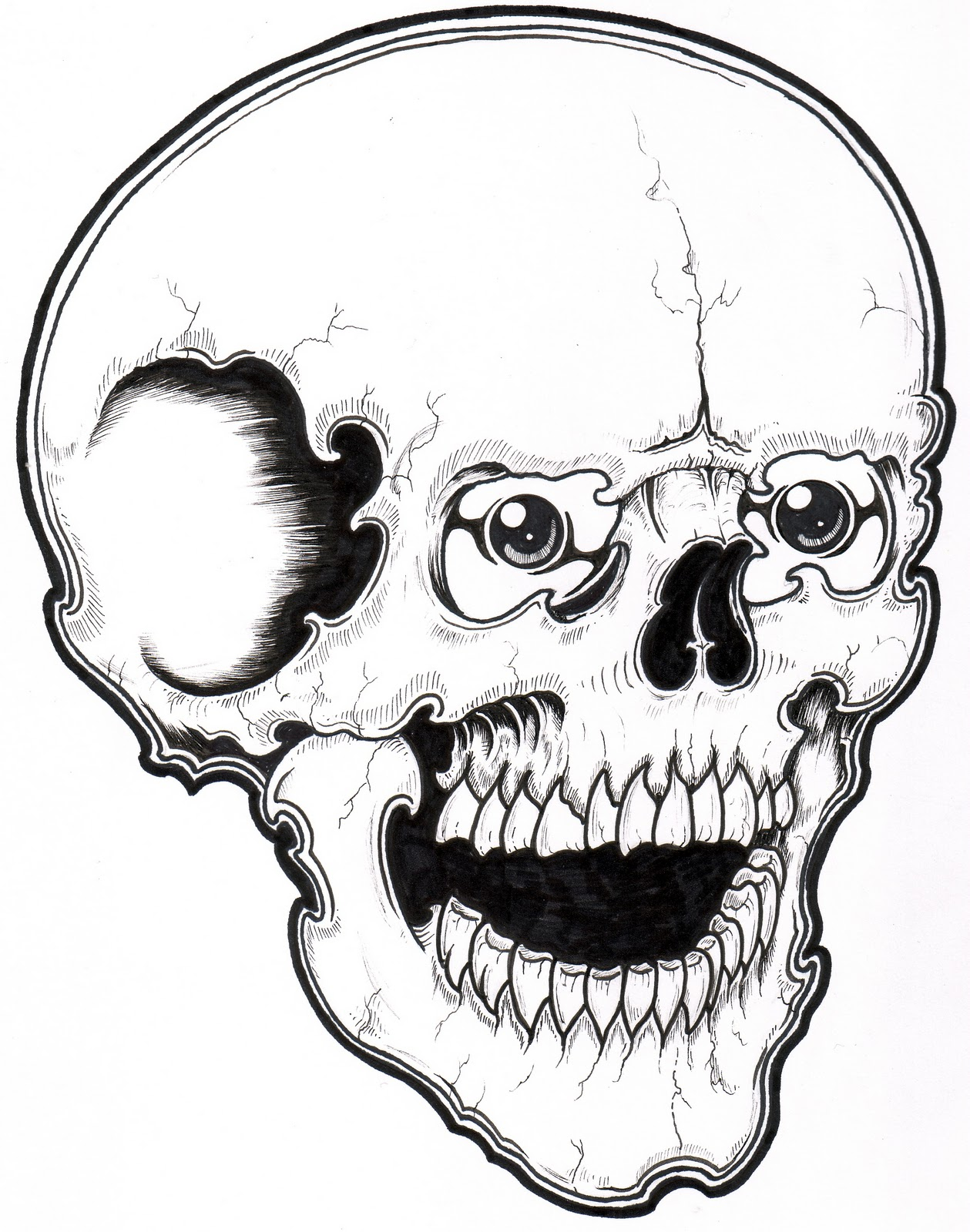 Skull Coloring Pages | 360ColoringPages