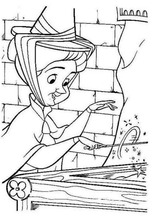 Sleeping Beauty Coloring Pages Fairy