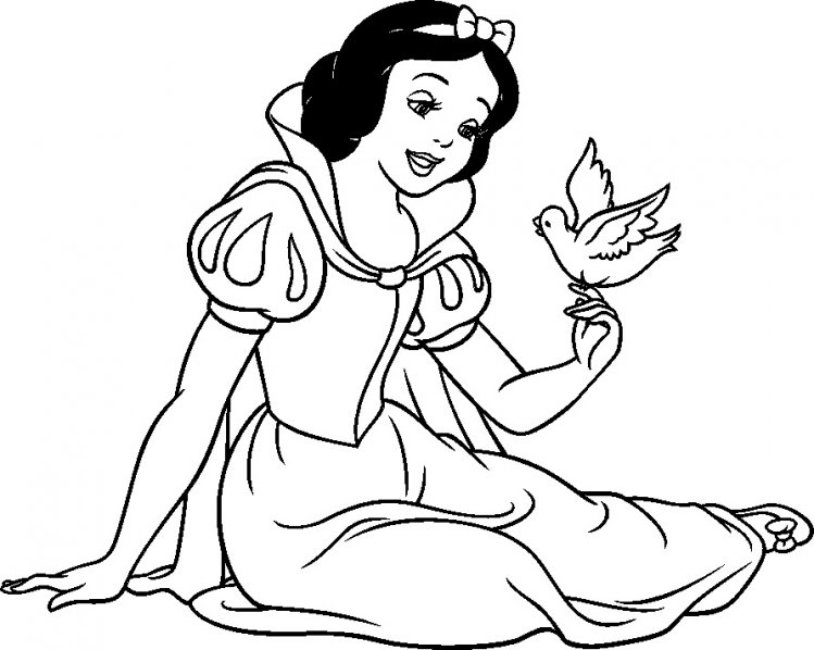 Snow White Coloring Pages for Girls