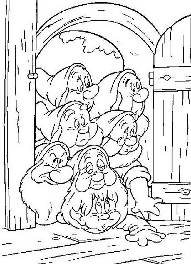 Snow White and the Seven Dwarfs Coloring Pictures