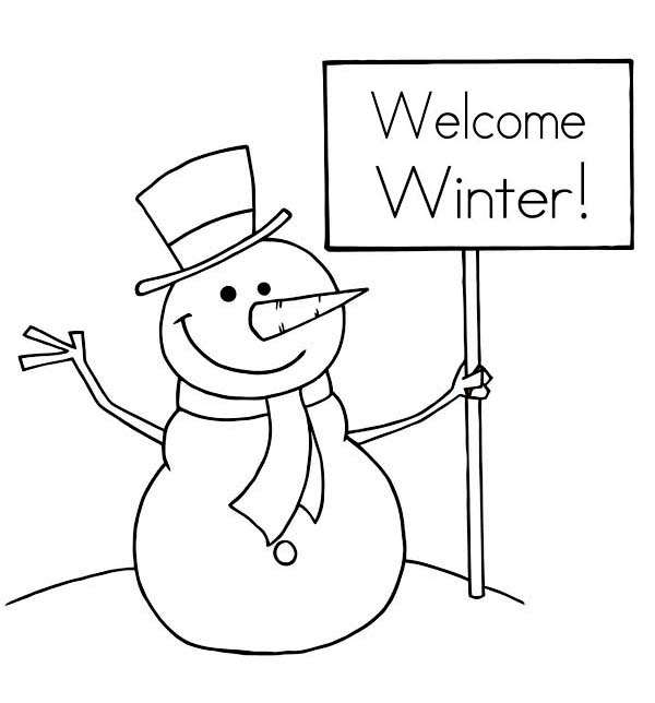 Snowman Coloring Page For Kindergarten Pages Preschool