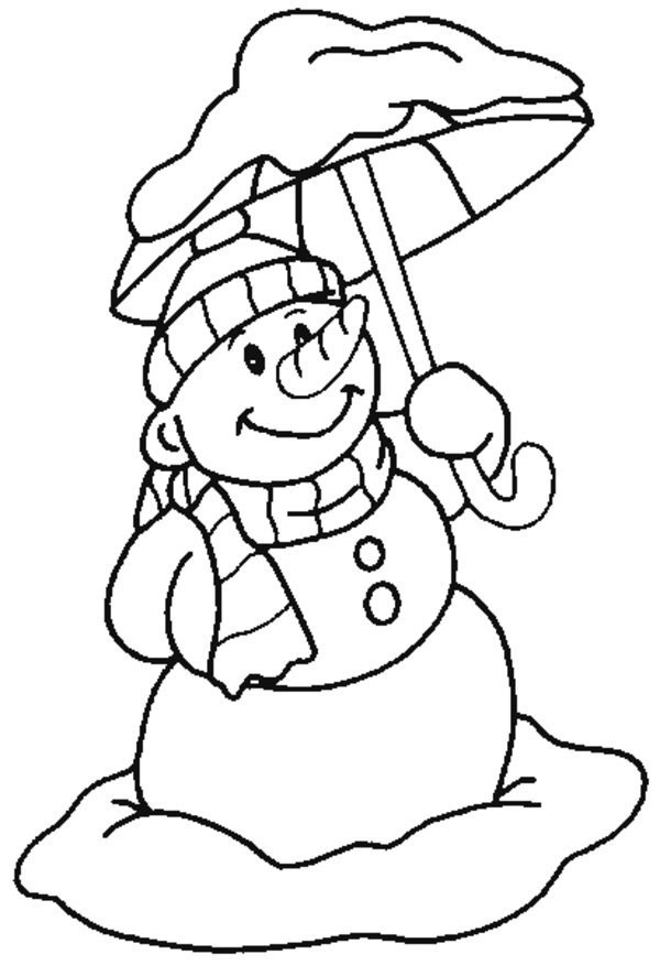 Printable Snowman Coloring Sheets for Kids