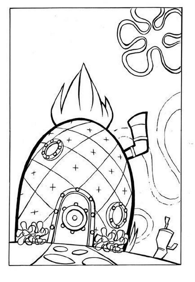 free coloring pages spongebob pineapple - photo#1