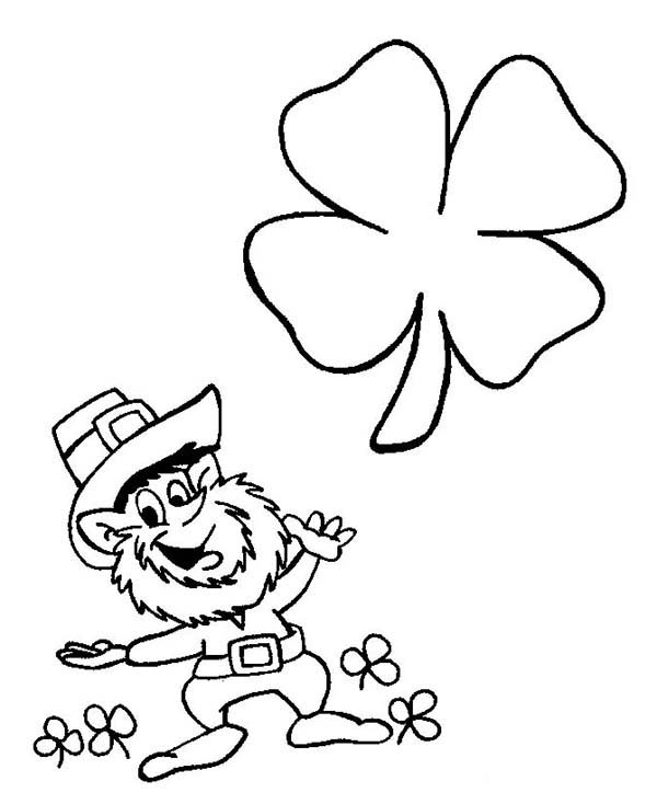 Saint Patrick's Day Leprechaun Coloring Pages