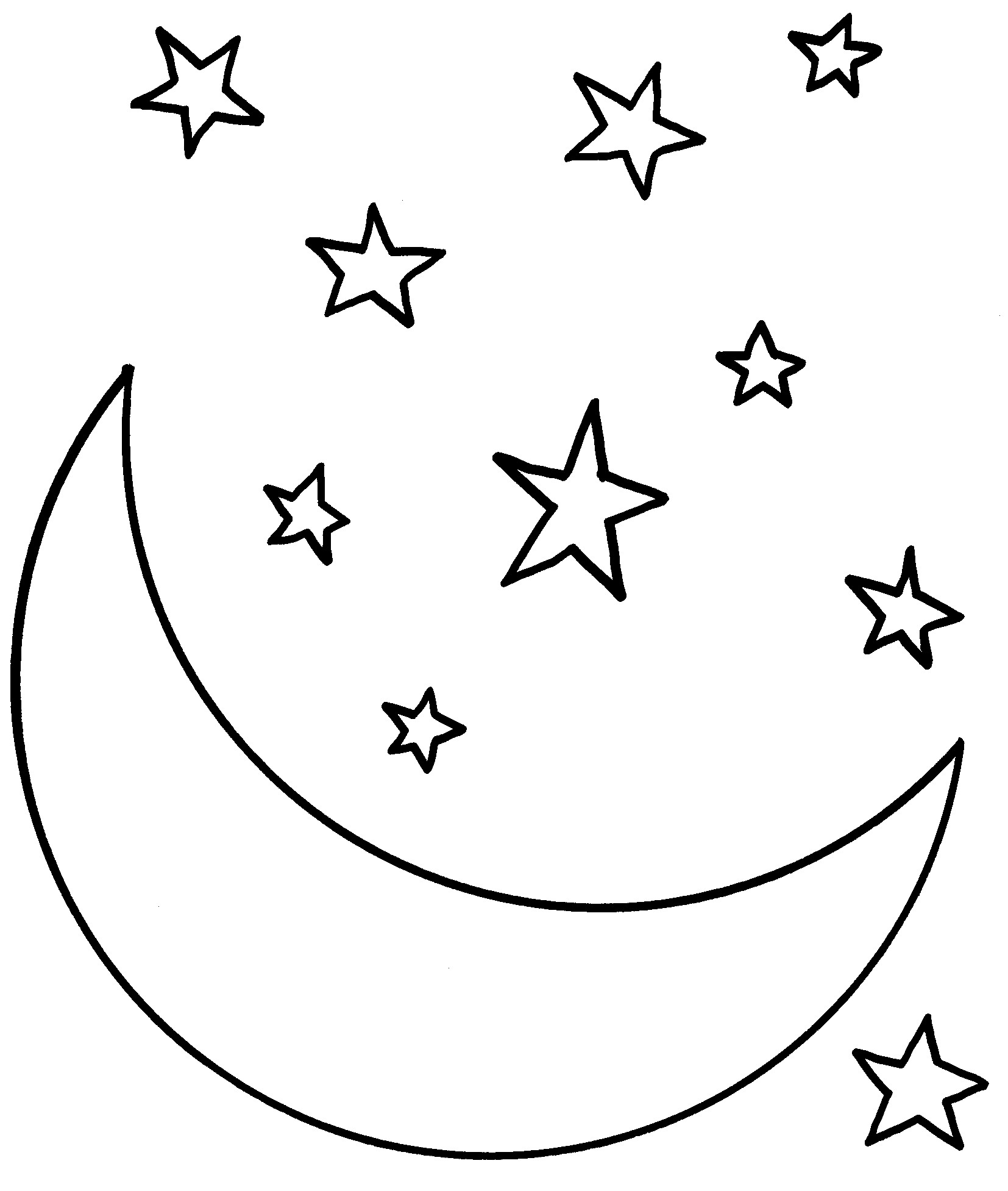 Star Coloring Page Pages Free Print