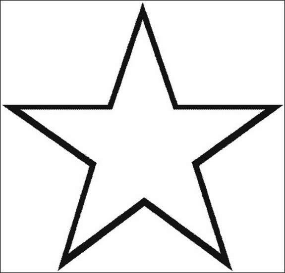Star Coloring Page for Toddlers