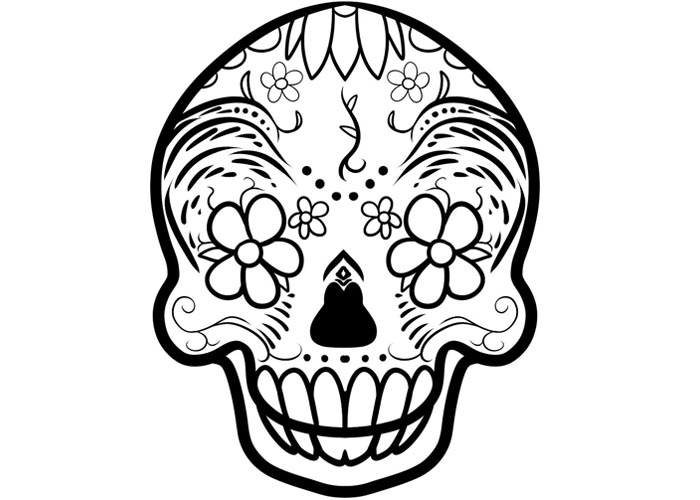 Sugar Skull Coloring Sheets for Adults