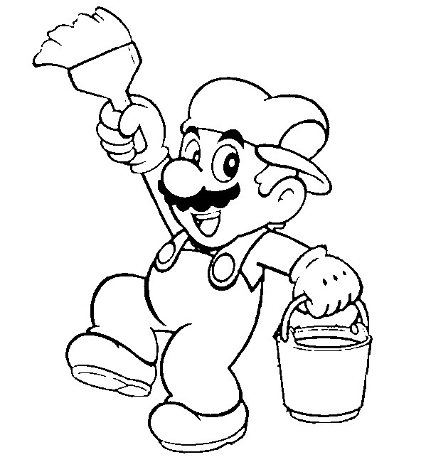 Super Mario Coloring Sheets for Kids