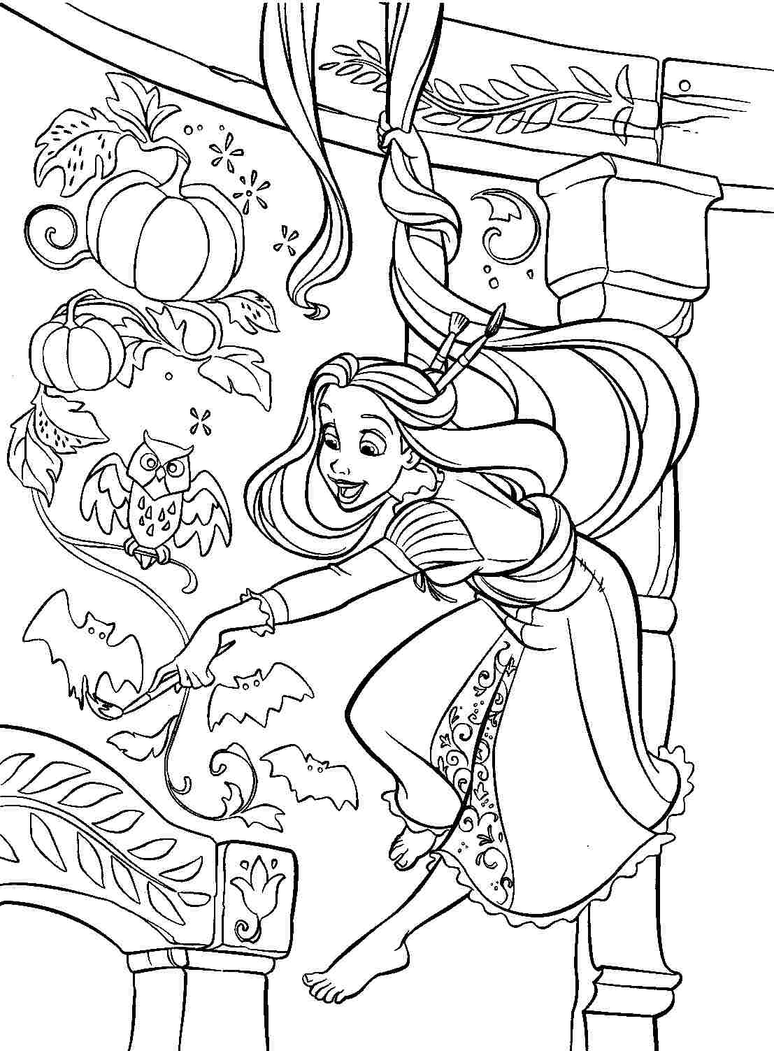 Tangled Coloring Pages Printable Free