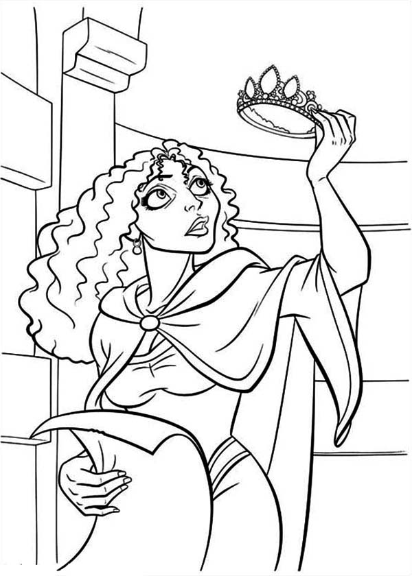 Tangled Mother Gothel Coloring Page