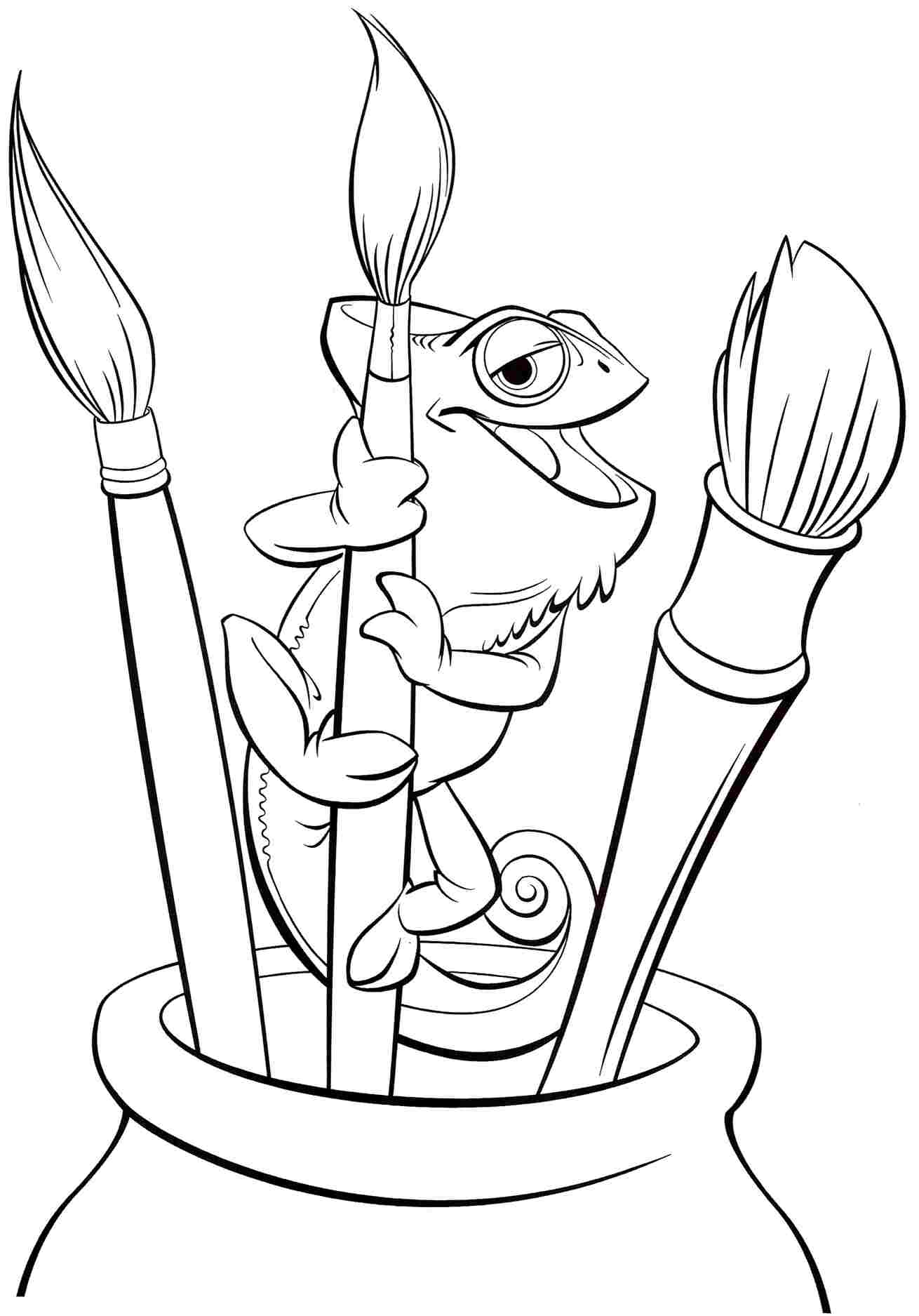 Tangled Coloring Pages Pascal