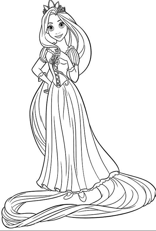 Tangled Rapunzel Coloring Pages to Print Free