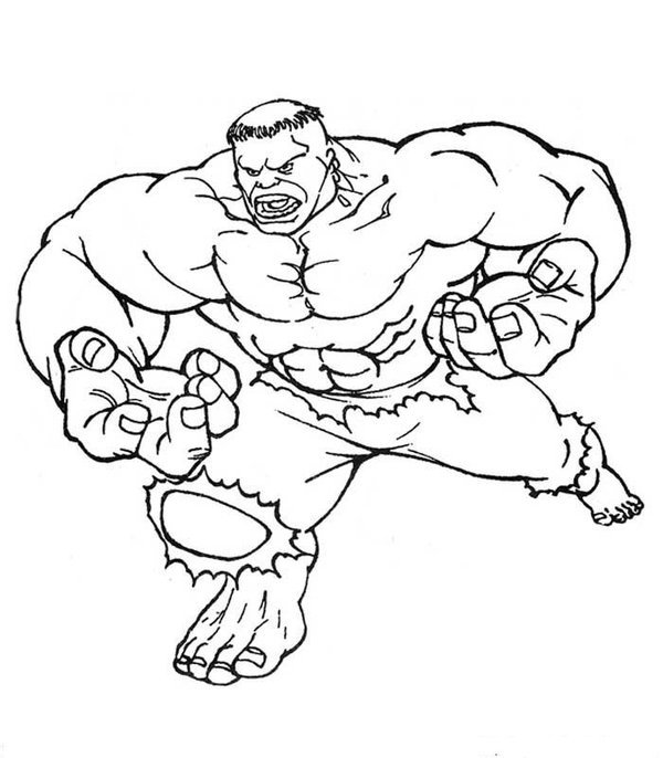 The Hulk Coloring Pages Free