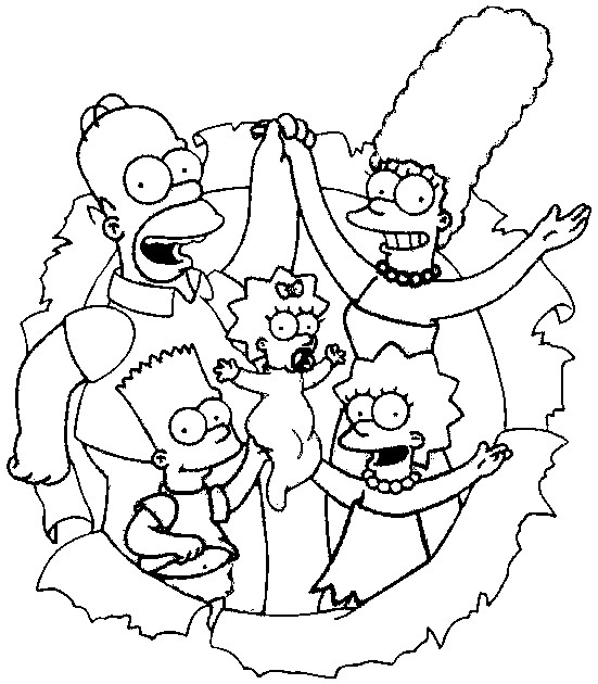 Simpsons Coloring Sheets