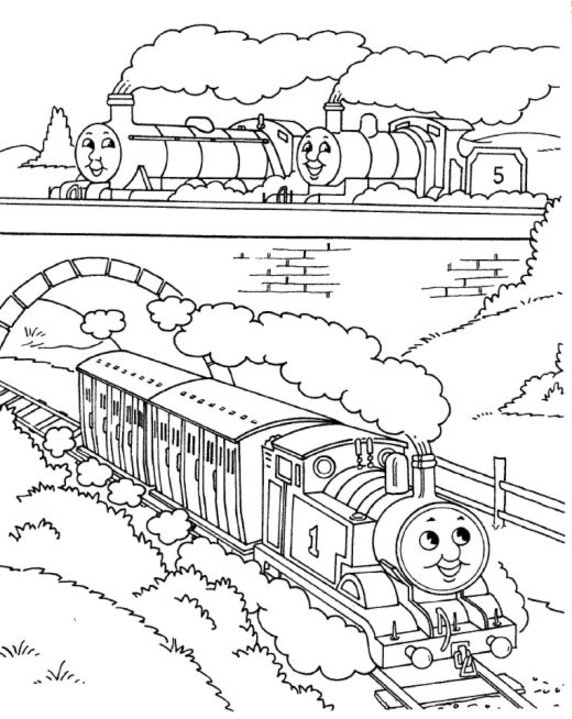 Thomas The Train Coloring Pages Free Printable