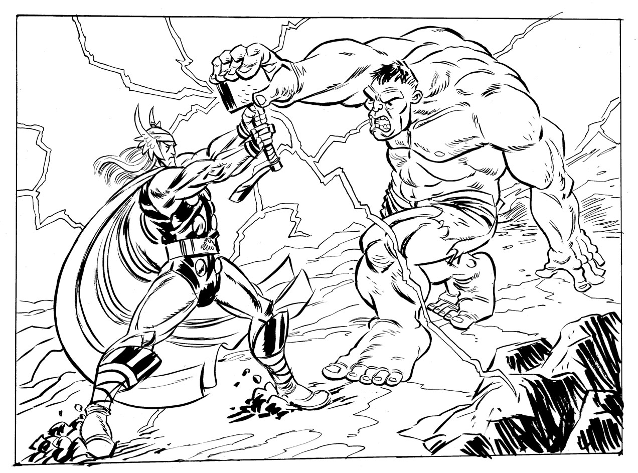 Thor Coloring Pages Free