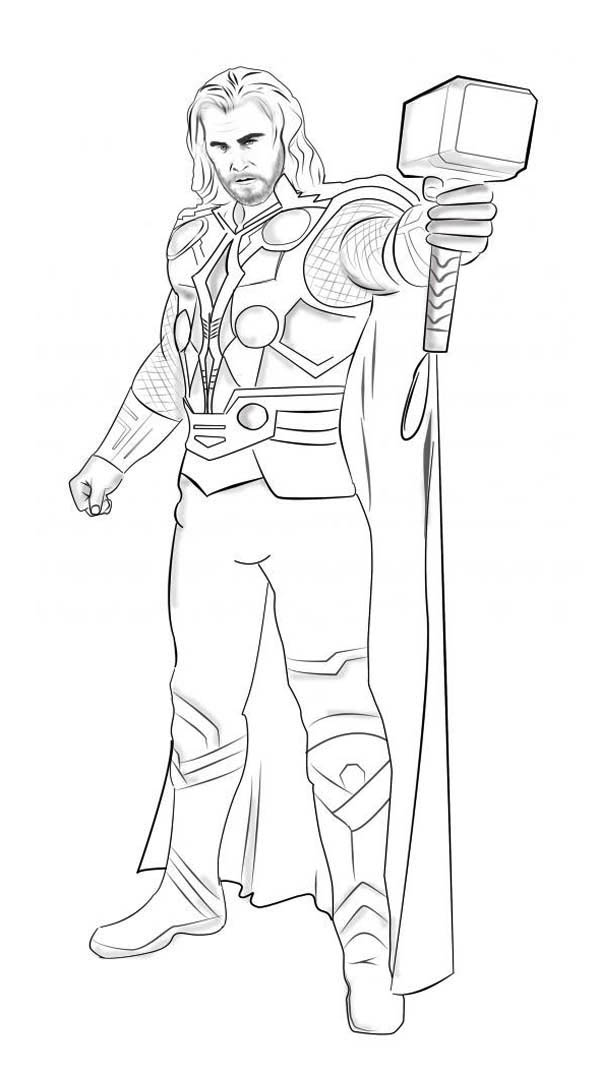Thor The Movie Coloring Pages