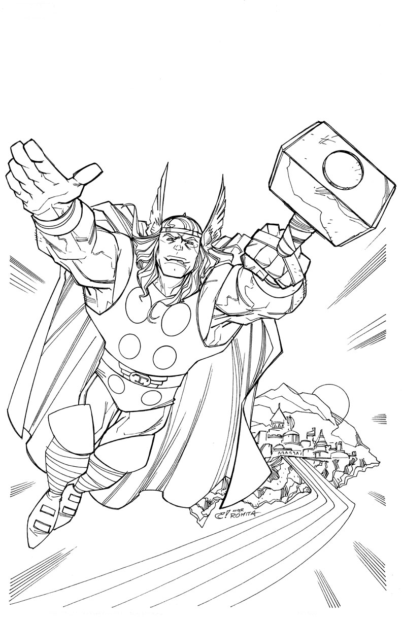 Thor Printable Coloring Pages Free