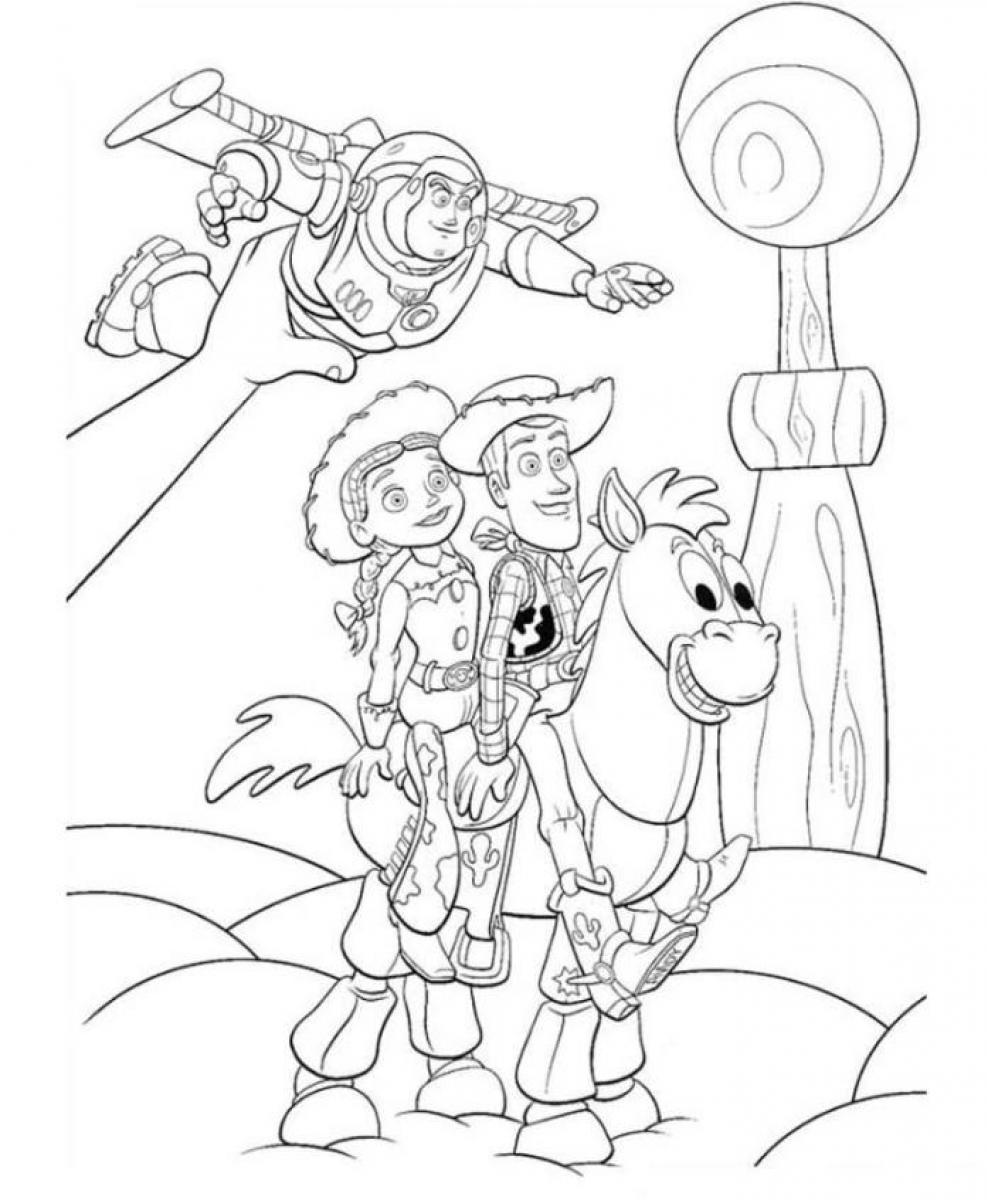 Toy Story 3 Coloring Page