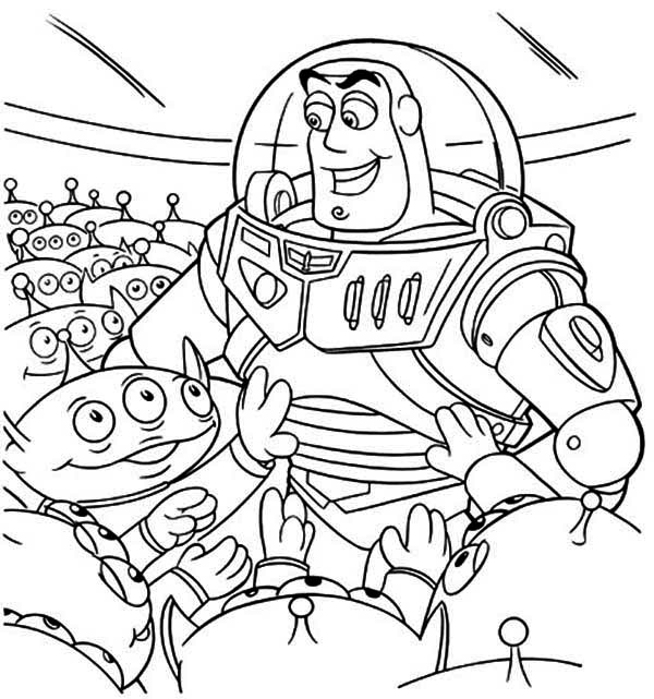 Toy Story Alien Coloring Pages Free