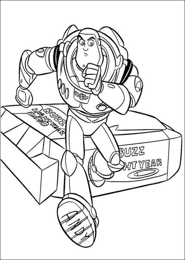 Toy Story Coloring Pages Buzz