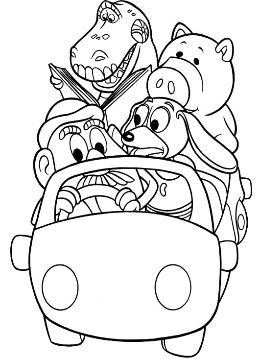 Free Toy Story Coloring Pages Printable