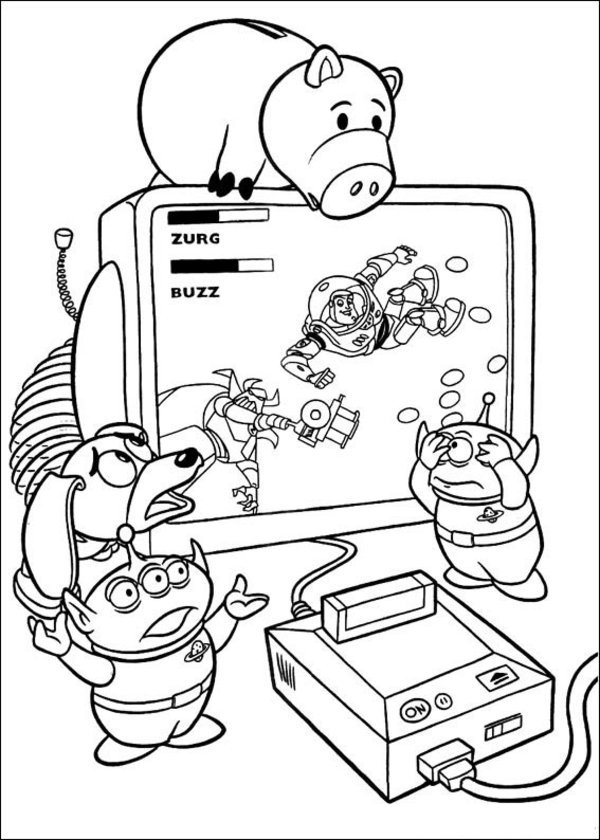 Toy Story Coloring Sheet