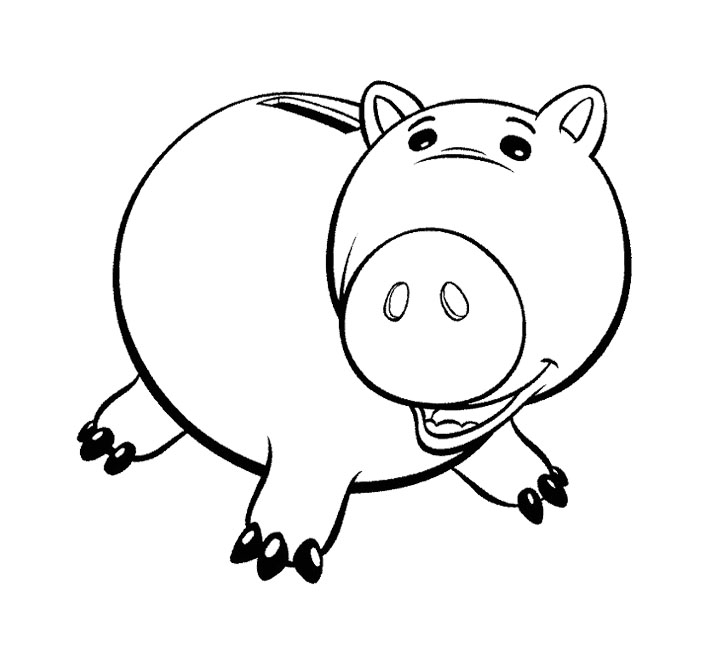 Toy Story Coloring Pages Pig