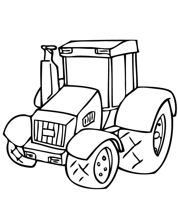 Tractor Coloring Pages Free Print