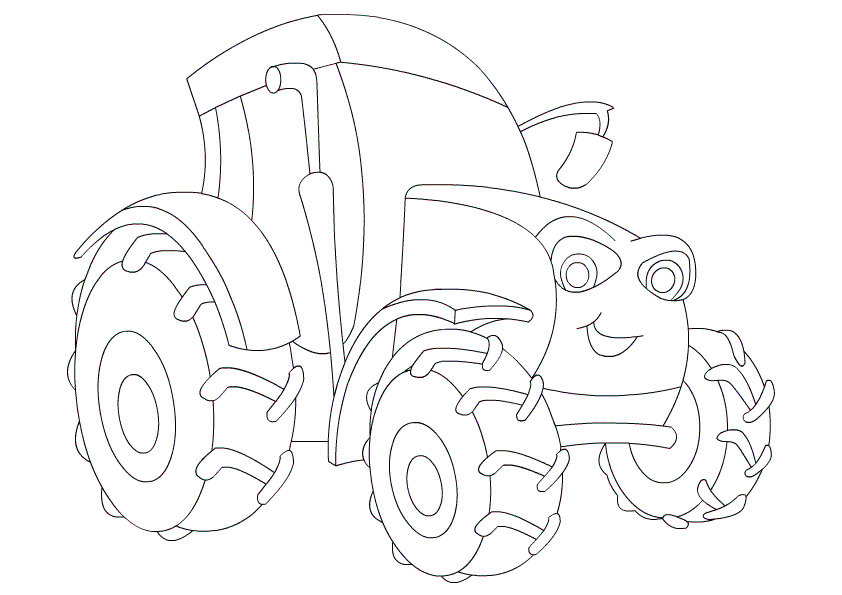 Tractor Coloring Pages Print Free