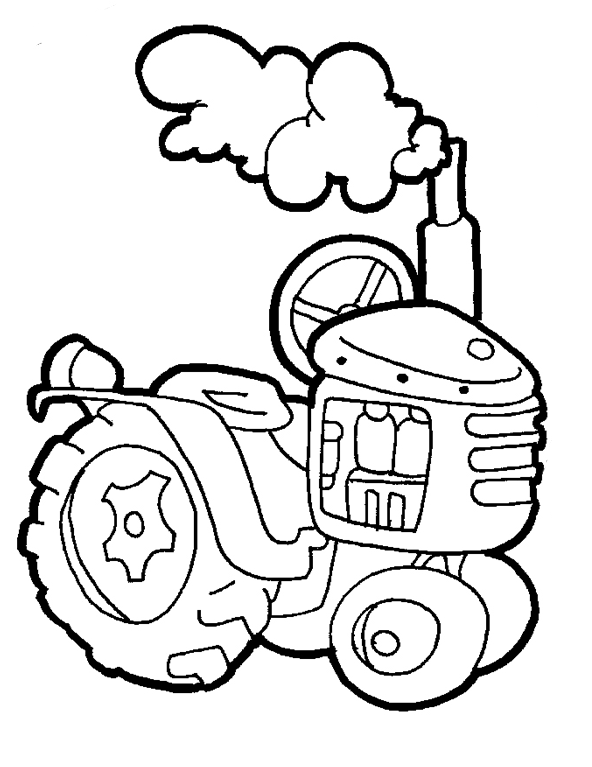 Free Tractor Coloring Pages for Kids