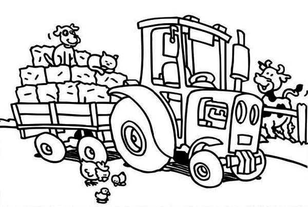 coloring book pages of tractors | Tractor Coloring Pages | 360ColoringPages