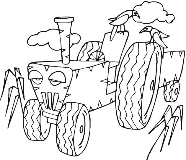 Tractor Coloring Pictures Free