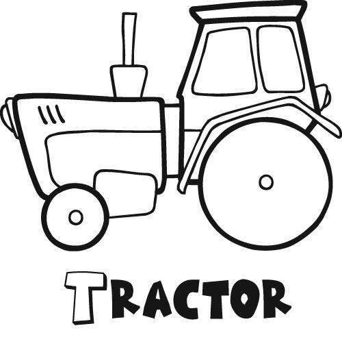 Tractor Coloring Sheets Free