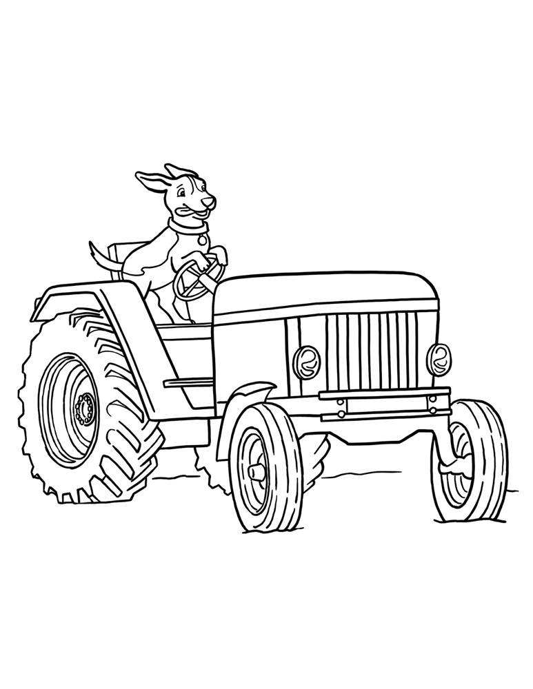 Tractor Coloring Sheets to Print