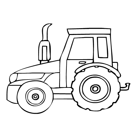 Free Tractor Coloring Sheets Printable