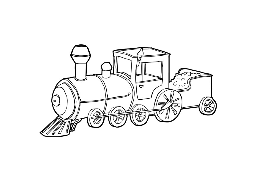 Train Coloring Pages Free Printable