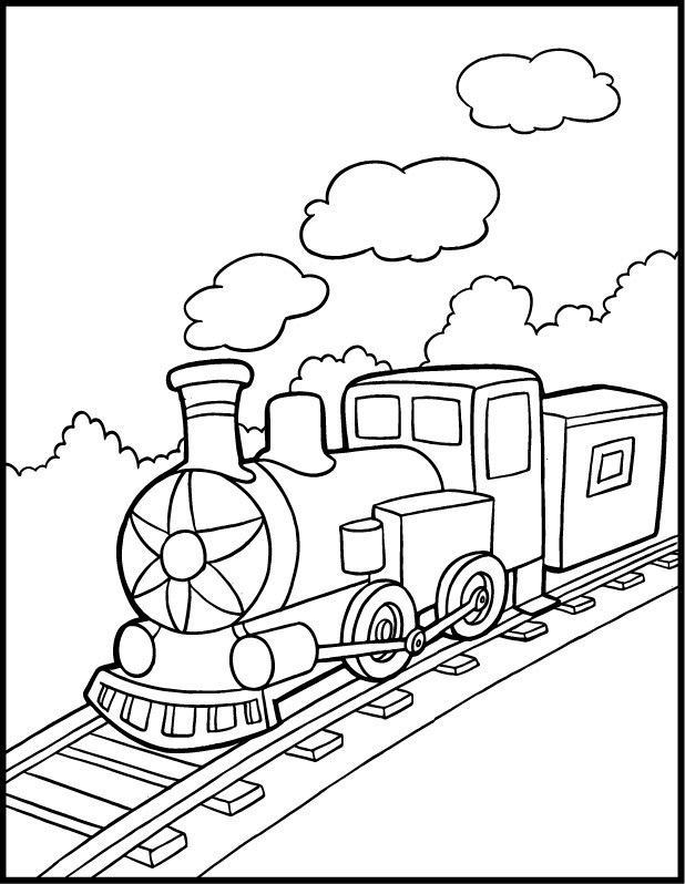 Train Coloring Sheets Free Printable