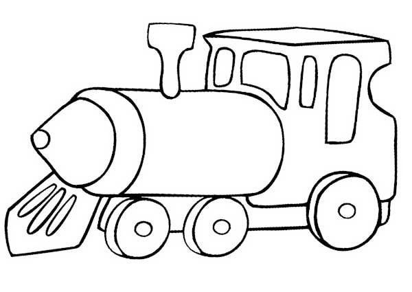 Train Coloring Sheets for Preschoolers