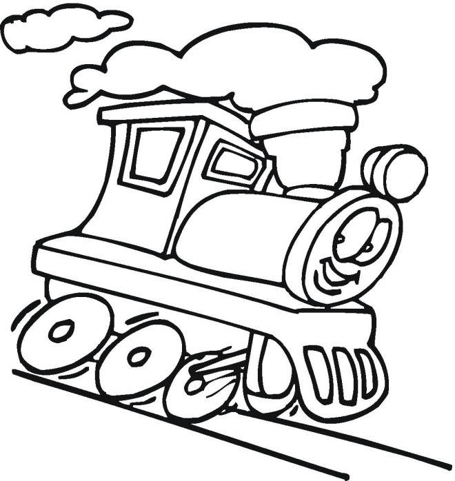 Train Coloring Sheets Printable