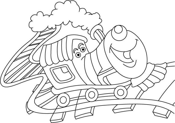 Train Coloring Sheets Print
